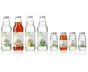 Etykiety linii produktowej soków z brzozy