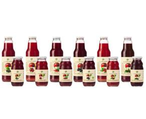 Projekt etykiet na butelki soków