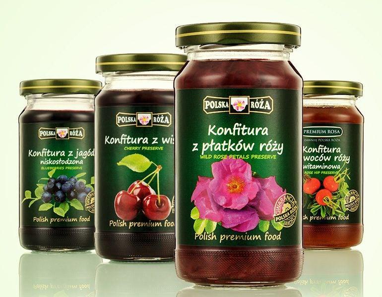 Projektowanie etykiet - konfitury Premium Rosa