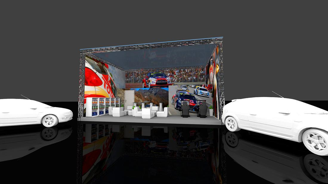 Stoisko targowe - wizualizacja 3D