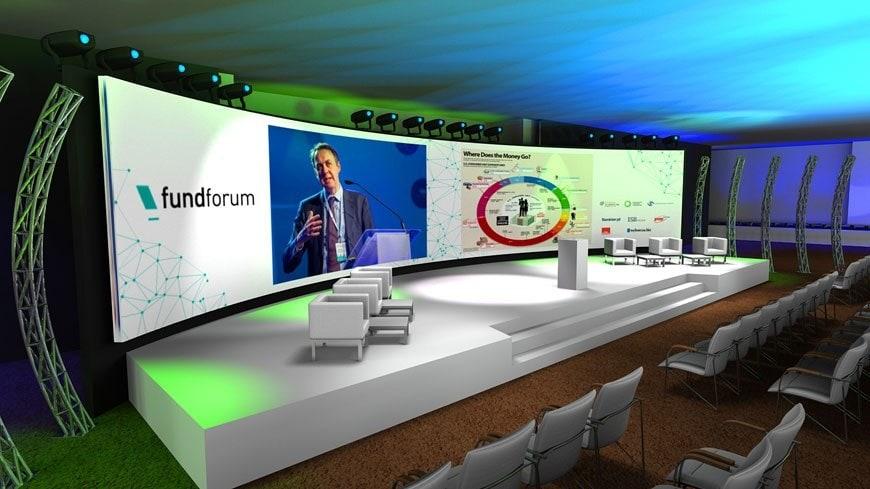 Wizualizacja 3D sceny - scenografia eventowa