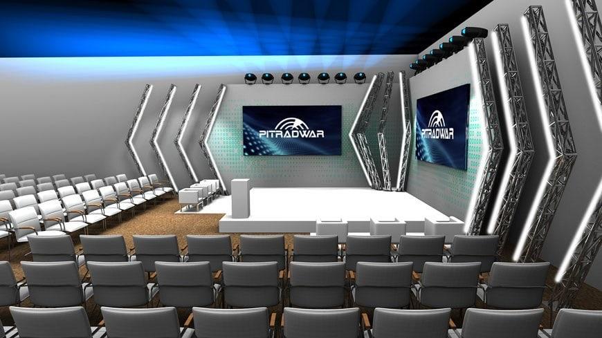 sala konferencyjna wizualizacja 3d
