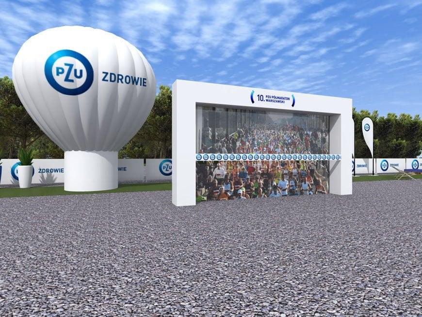 wizualizacja scenografii eventu PZU