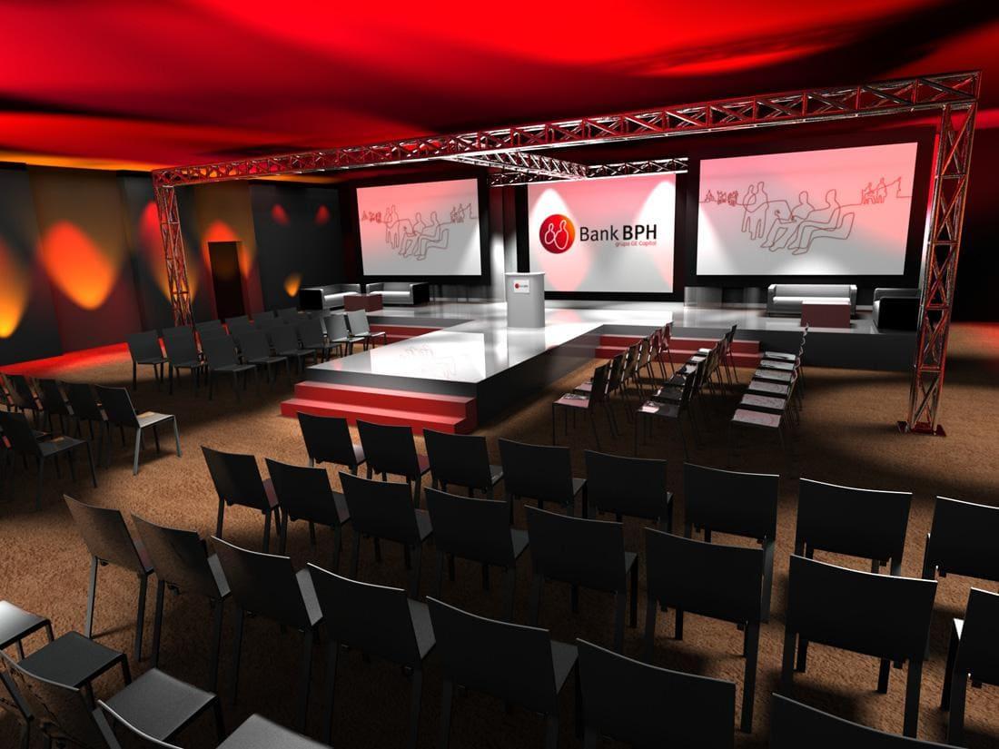 wizualizacja konferencja scena