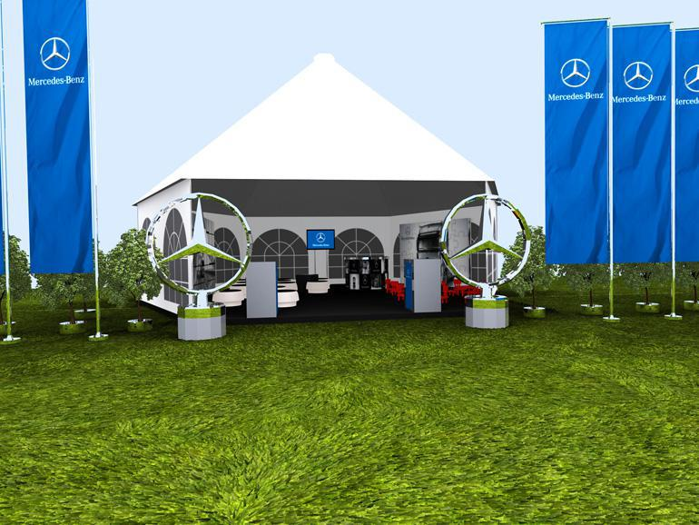 wizualizacja strefy eventowej Mercedes