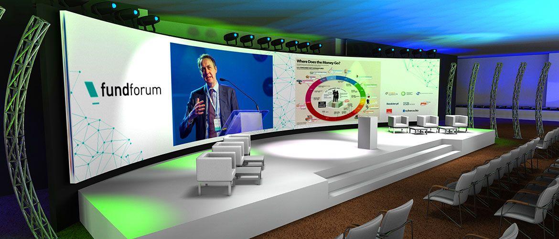 Scenografia eventowa Warszawa - wizualizacja 3D