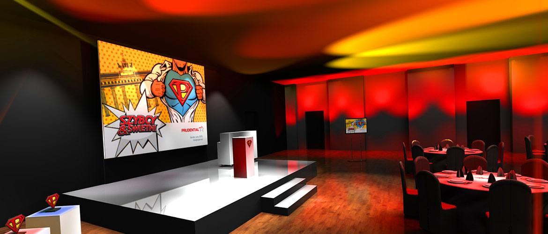 Projekt i wizualizacja scenografii na potrzeby realizacji imprezy firmowej