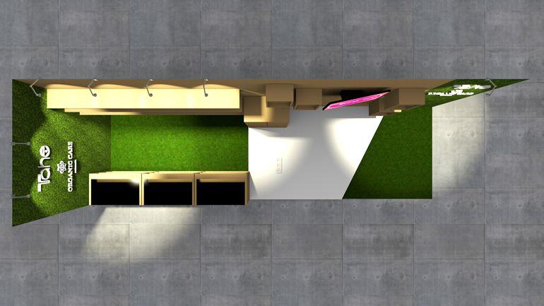 Stoisko handlowe - projekt 3D