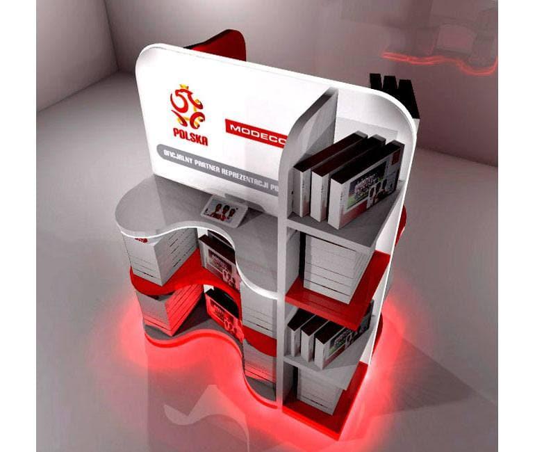 Wizualizacja 3D ekspozytora POS