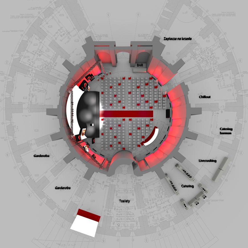 projekt sceny - plan budynku