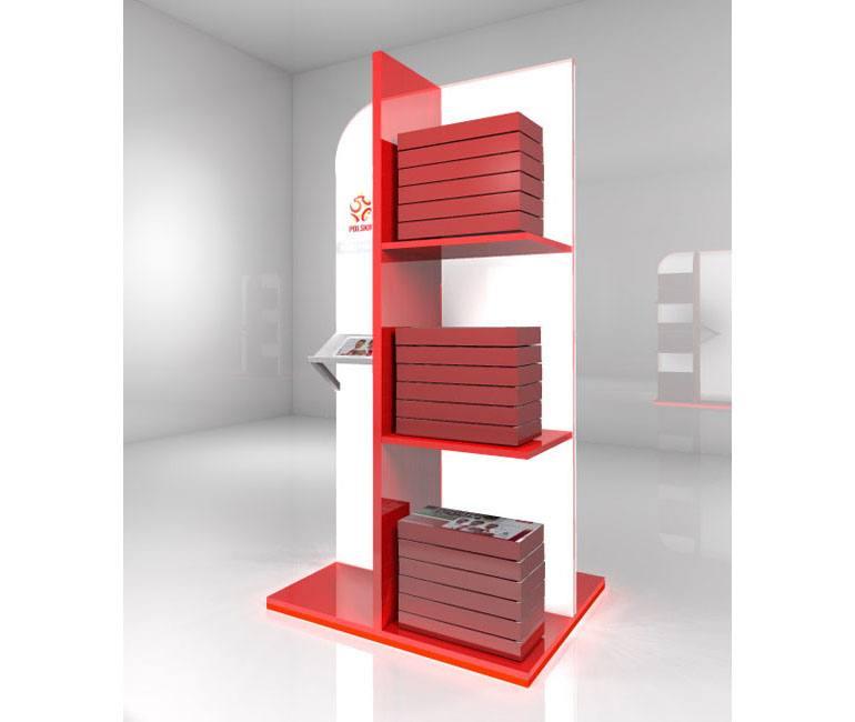 Projekt 3D regału ekspozycyjnego POS