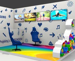 wizualizacja stoiska targowego - strefa dla dzieci
