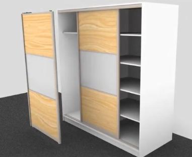 animacja 3d montaż drzwi