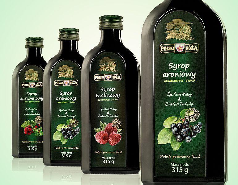 projektowanie etykiet na butelki syropu