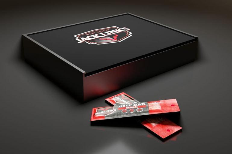 projekt pudełka z czarnego pcv