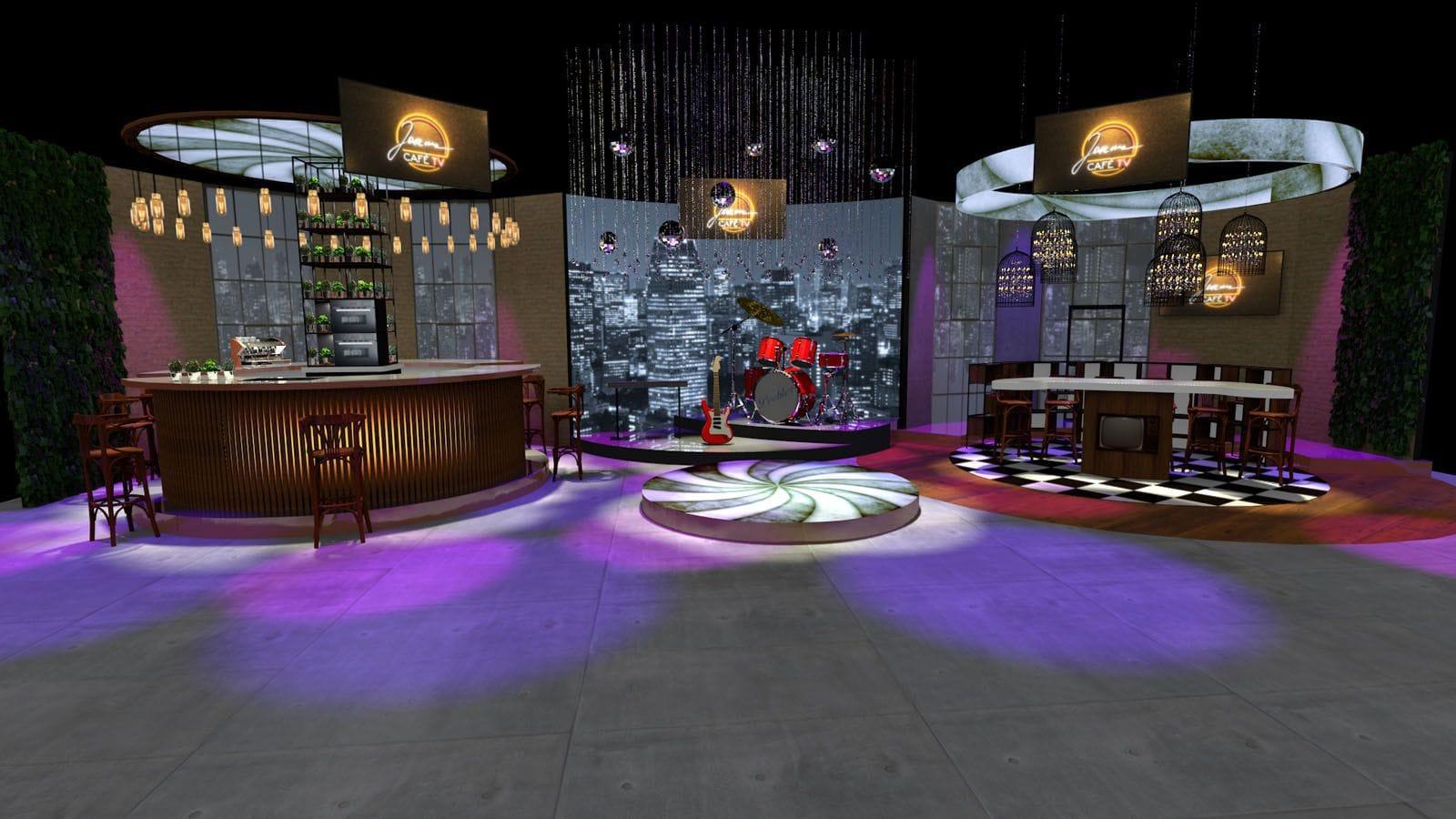 studio telewizyjne - scenografia 3D