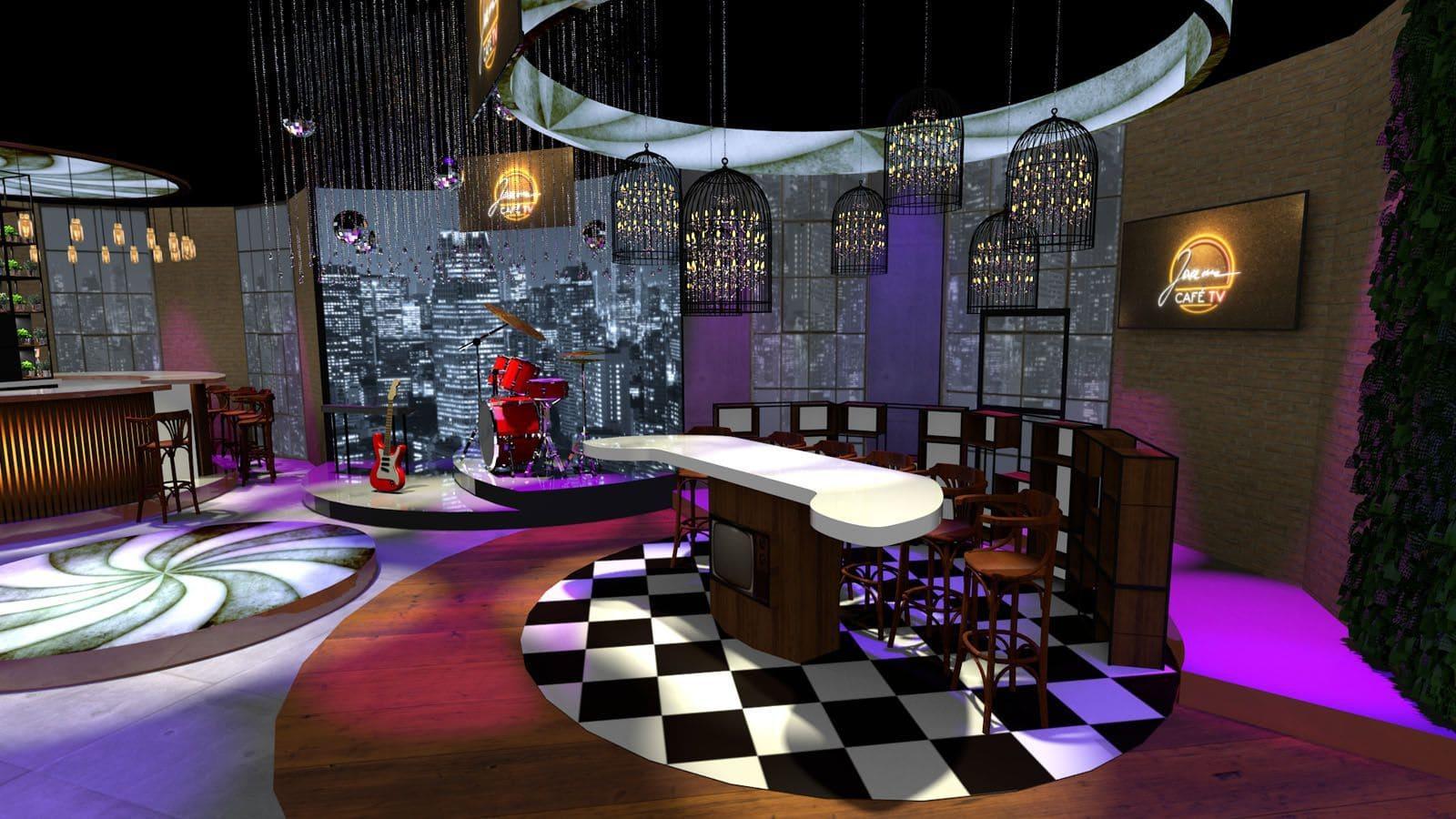 studio telewizyjne - wizualizacja 3D