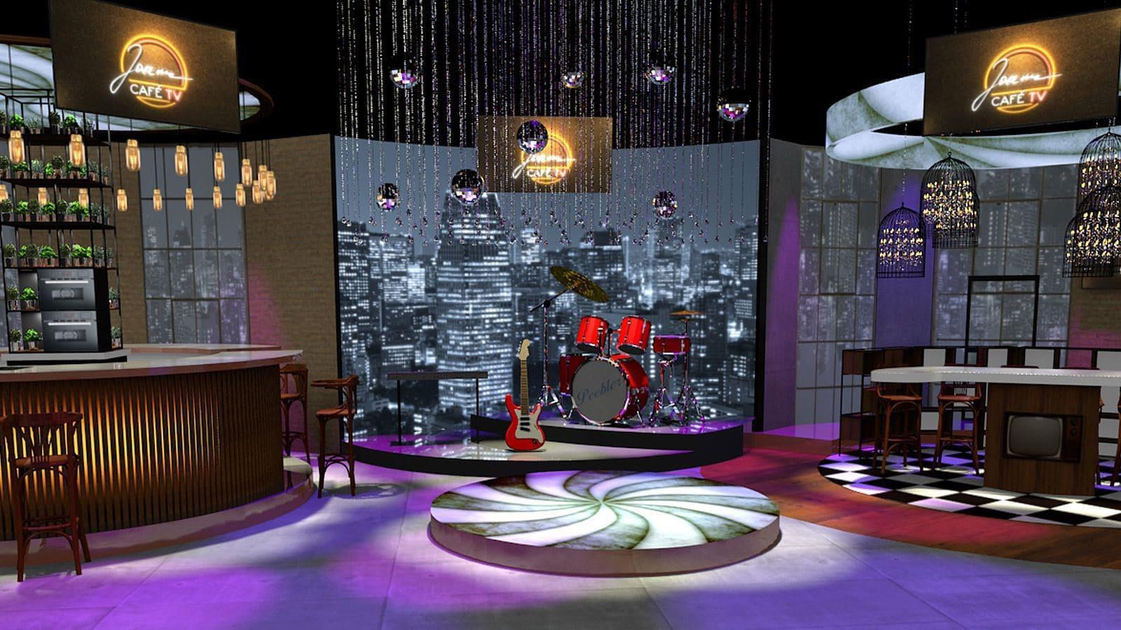scenografia studia telewizyjnego