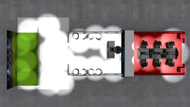 stoisko promocyjne - wizualizacja 3d
