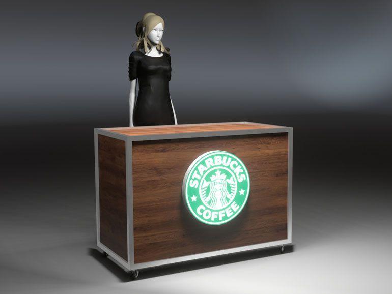 Lada wystawiennicza dla kawiarni Starbucks Coffee