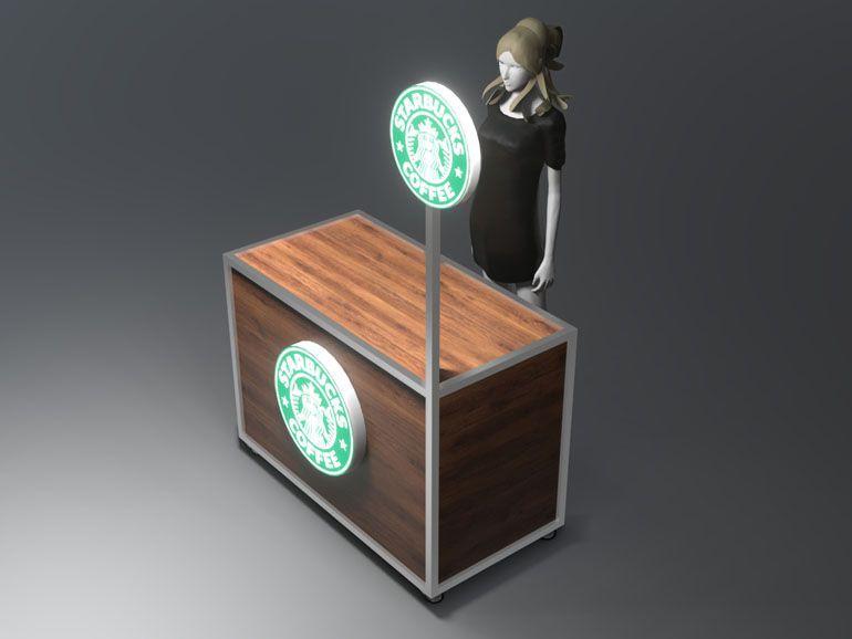 Lada wystawiennicza dla kawiarni - wizualizacja produktu