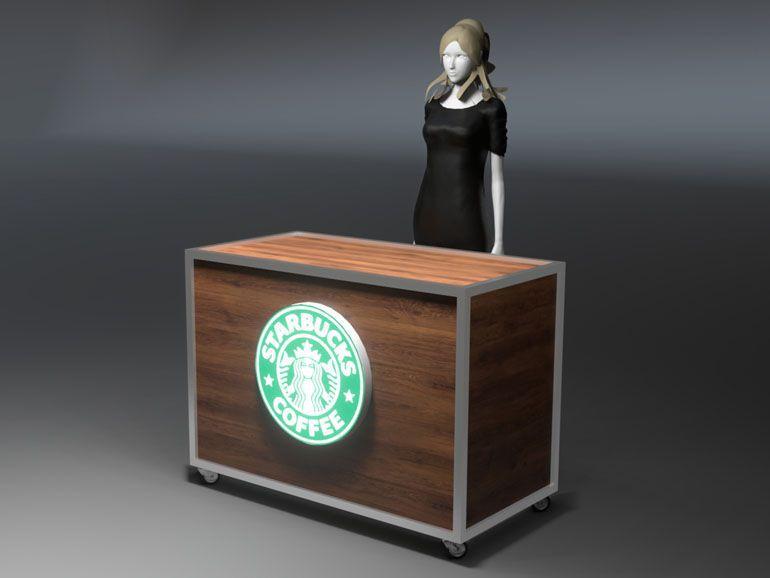 Lada wystawowa dla kawiarni Starbucks Coffee