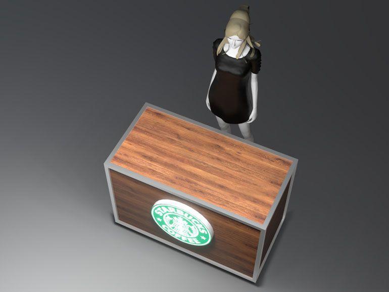Lada wystawowa dla kawiarni - wizualizacja produktu