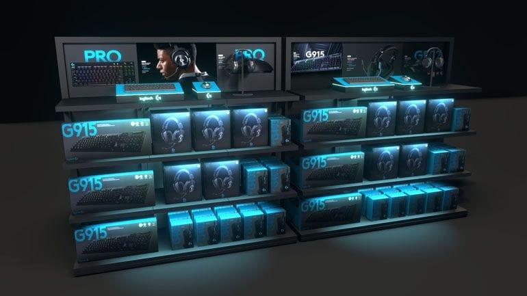 regały ekspozycyjne display - wizualizacja 3D