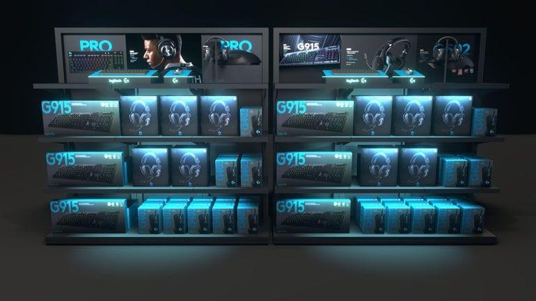 regały ekspozycyjne display - wizualizacje 3D