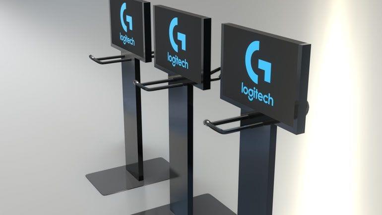 stojaki reklamowe - wizualizacja 3D