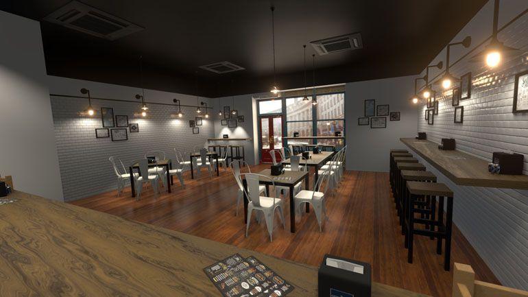 wizualizacje wnętrz restauracji