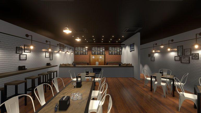 Restauracja - wizualizacja wnętrz 3d