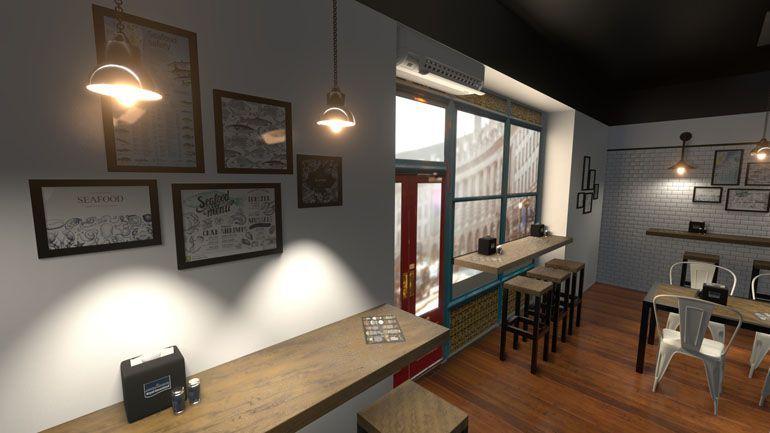 wizualizacja wnętrz 3d - restauracja