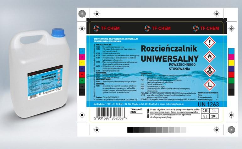 projekt etykiety chemicznej