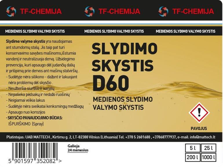 Projektowanie etykiet - etykieta chemiczna D60