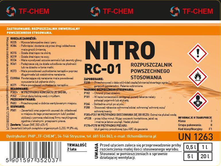Projektowanie etykiet - etykieta Nitro