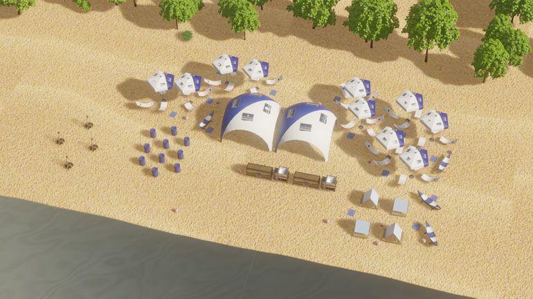 Event firmowy na plaży
