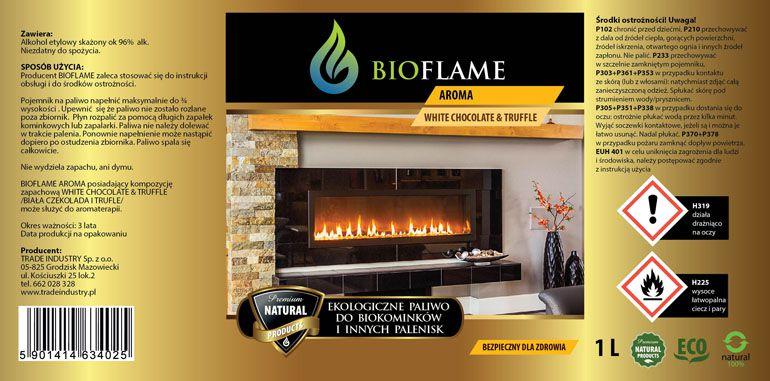 projekt etykieta paliwa do biokominków