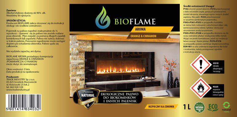 projektowanie etykiet - biopaliwo do kominków