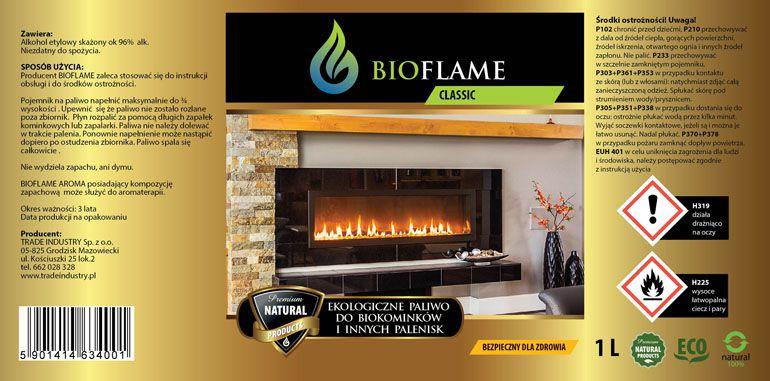 projekt etykiety paliwa do biokominków