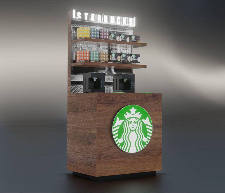Wizualizacja produktowa - wyspa kawowa