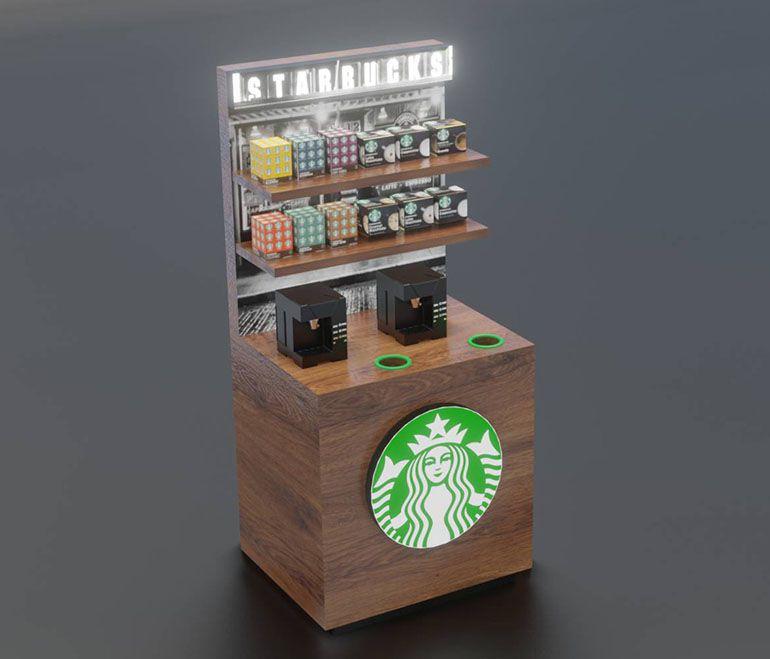 Wizualizacja mebli - wyspa kawowa