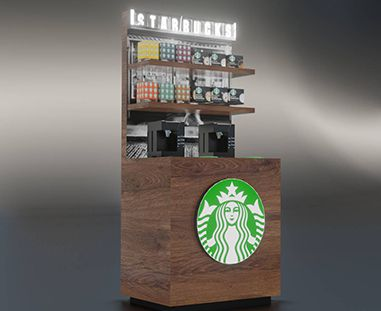 Wizualizacja mebla - wyspa kawowa