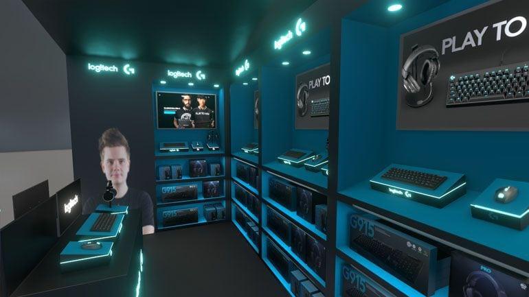 wizualizacja 3D stoiska sklepowego