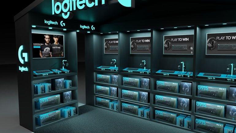 stoisko sklepowe - wizualizacja 3D