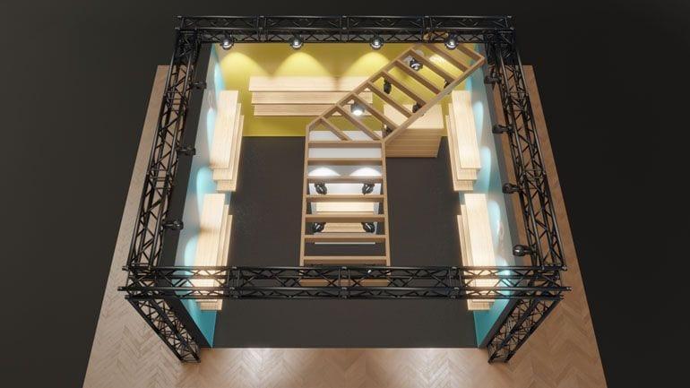 Stoisko reklamowe - wizualziacja 3D
