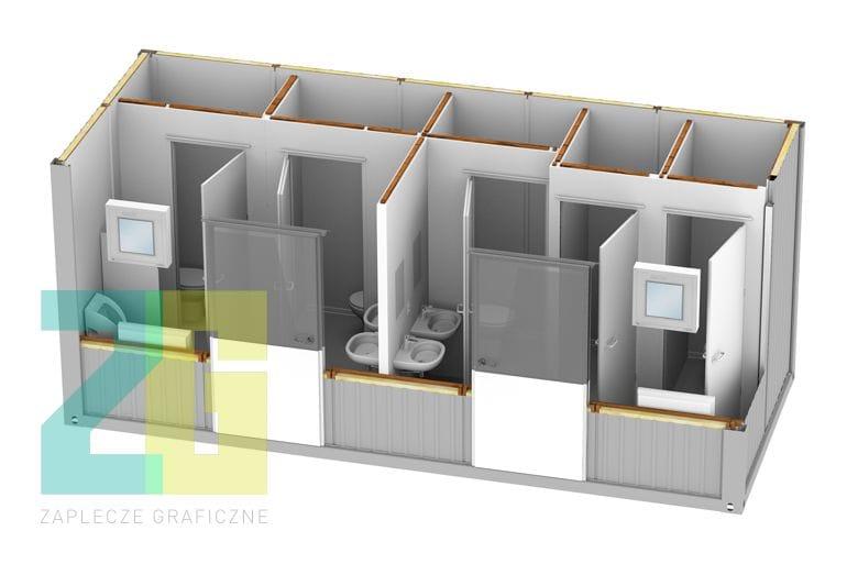 kontener socjalny - wizualizacja 3d