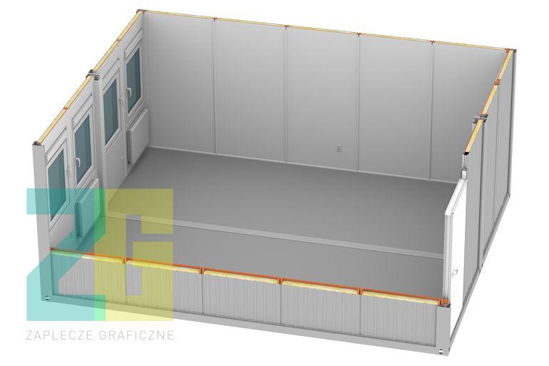 kontener mieszkalny - wizualizacja 3d