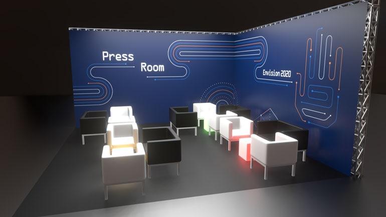 Materiały przetargowe - press room wizualizacja