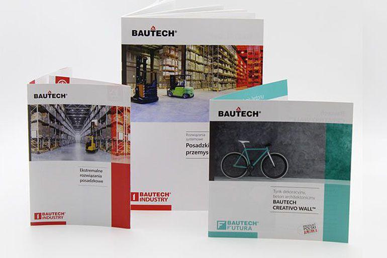 Foldery reklamowe Bautech